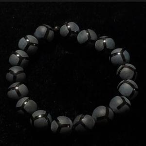 Other - Black Onyx Beads Matte & Polished Finish Bracelet